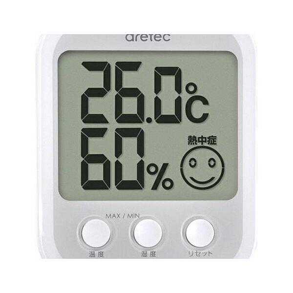 dretec(ドリテック):デジタル温湿度計「オプシスプラス」ホワイト O-251WT