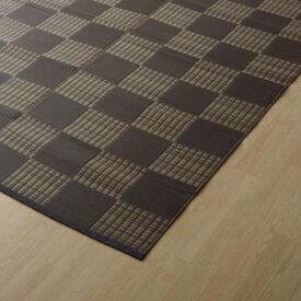 イケヒコ・コーポレーション:PPカーペット ウィード ブラウン 江戸間4.5畳 2117004