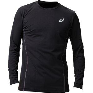 アシックス:ウィンジョブ ロング スリーブシャツ(空調服専用インナー) 001(パフォーマンスブラック×ダークグレー) M 2271A008