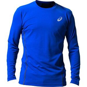 アシックス:ウィンジョブ ロング スリーブシャツ(空調服専用インナー) 400(アシックスブルー×ダークグレー) M 2271A008