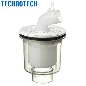【ポイント10倍】テクノテック:排水トラップ T.Eトラップ 本体透明 目皿・受ニューホワイト 縦型 PDT-SWM 洗濯機 防水パン クリア 点検しやすい