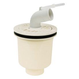 【ポイント10倍】テクノテック:防水パン用排水トラップ T.Tトラップ 本体有色 目皿・受 アイボリーホワイト 縦型 SDT-W-W1