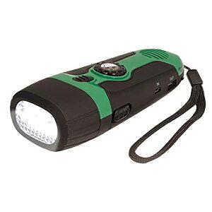 HAC:ダイナモ充電式・多機能ライト 多機能防災ラジオ ポータブルラジオ 防災グッズ AM/FMラジオ LEDライト スマホ充電 HAC2390