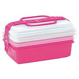 サンコープラスチック:ファミリーパック(取り皿3枚付き) ピンク 116727
