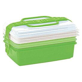 サンコープラスチック:ファミリーパック(取り皿3枚付き) グリーン 116741