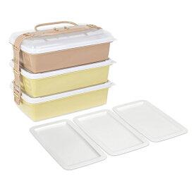 サンコープラスチック:ファミリーパック(取り皿3枚付き) アースベージュ 116789