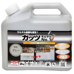 ニッペホームプロダクツ:水性ガッツモルタルNo.1 グレー 2kg