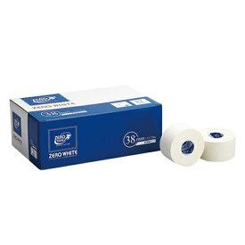日進医療器:ゼロホワイトテープ非伸縮38mm×13.75m 12巻入 783433 手首 足首 肘 捻挫 バスケ サッカー テニス