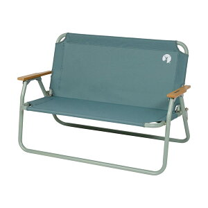 キャプテンスタッグ:アルミ背付ベンチ (ヴィンテージグリーン) UC-1829 長椅子 椅子 チェアー アウトドアチェア 軽量 キャンプ用品 おしゃれ アウトドアグッズ 海 山 レジャー ベランピング