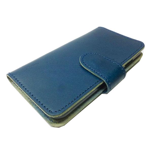 【代引不可】VEGETABLE-TANNED LEATHER:i-phone6/6S 手帳型ケース/栃木レザー「ジーンズ」 NV L-20330 NV
