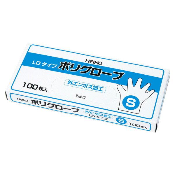 シモジマ:HEIKO ポリグローブ ポリLD 外エンボス100入 S 100枚 004771048