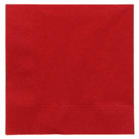 オリエンタル紙業:2層カラーナプキン 25cm角 イタリアンレッド 50枚入 004710245