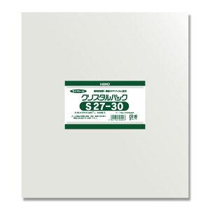 シモジマ:HEIKO OPP袋 クリスタルパック S27-30 (サイドシール) 100枚 006762400
