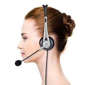 あす楽 サンワサプライ:USB ヘッドセット(シルバー) MM-HSUSB16SV テレワーク マイク 通話 リモートワーク Skype ゲーム PS4 ヘッドホン ボイスチャット