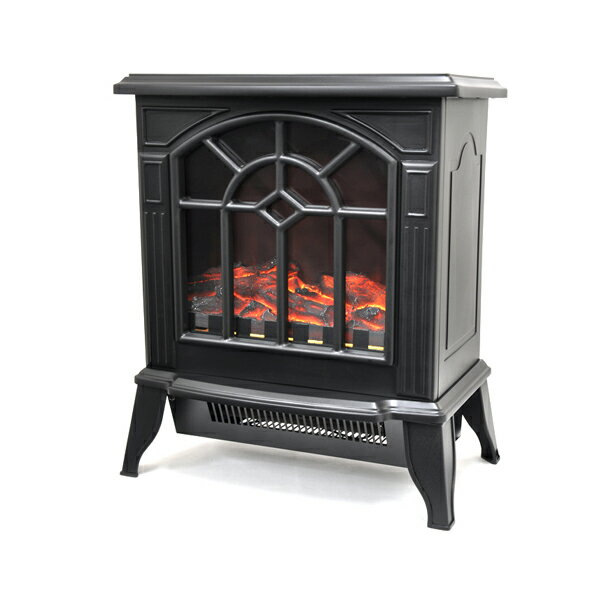 【後払い不可】ベルソス:暖炉型ヒーター ブラック VS-HF3200
