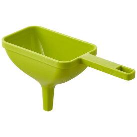 山崎実業:ハンドル付き漏斗 角型 アクア グリーン 3945