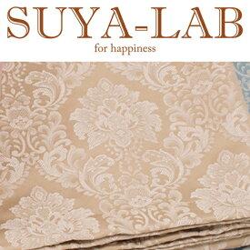 SUYA-LAB:ベッドスプレッド ダマスク B-SD ベージュ 22410-89722/201
