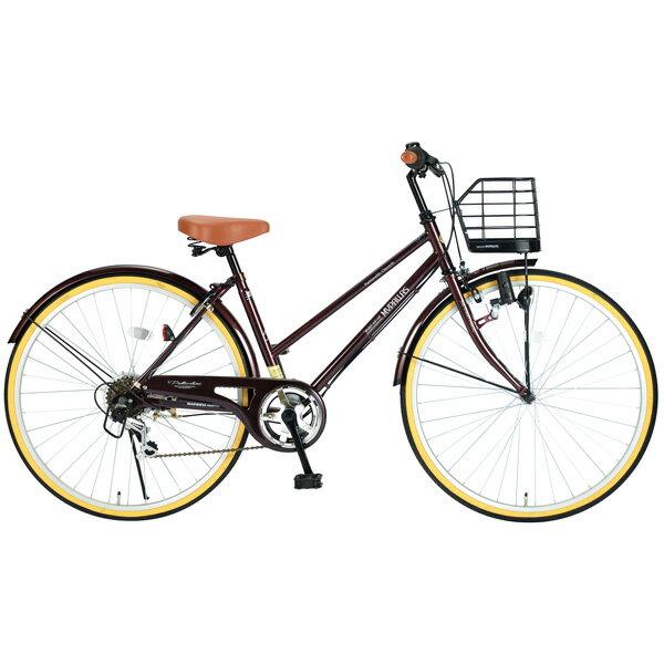 MyPallas(マイパラス):自転車 シティサイクル26インチ 6段変速 ブラウン
