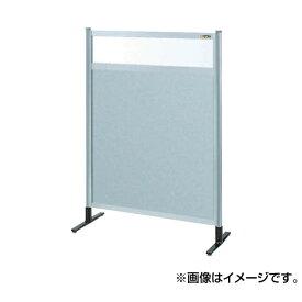 【代引不可】SAKAE(サカエ):パーティション 透明塩ビ(上) アルミ板(下)タイプ(移動式) NAE-44NC