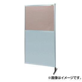 【代引不可】SAKAE(サカエ):パーティション 透明カラー塩ビ(上) アルミ板(下)タイプ(連結) NAK-56NR