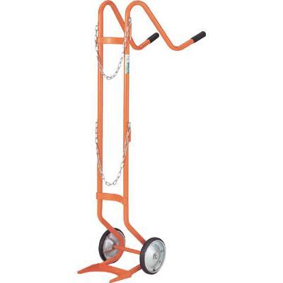 TRUSCO ボンベ台車 二輪型 酸素用ボンベ一本積用(1台) HT63N 2859289