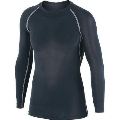 おたふく 冷感・消臭 パワーストレッチ長袖クルーネックシャツ ブラック S(1枚) JW623BKS 7591012
