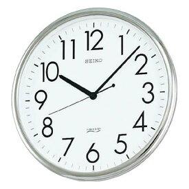SEIKO オフィスクロック 直径314×36 P枠 銀色(1個) KH220A 3366120