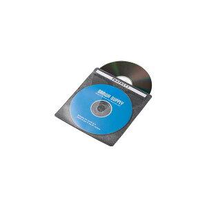 サンワサプライ:ブルーレイディスク対応不織布ケース(50枚入り・ブラック) FCD-FNBD50BK