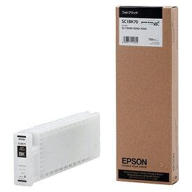 EPSON(エプソン):インクカートリッジ フォトブラック 700ml SC1BK70 1個 3231098