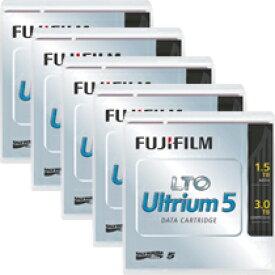富士フイルム:LTO Ultrium5 データカートリッジ バーコードラベル(縦型)付 1.5TB LTO FB UL-5 OREDPX5T 1パック(5巻) 3222461