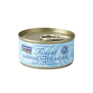 【FISH4CATS】フィッシュ4キャット缶詰「イワシ&緑イ貝」SARDINE WITH MUSSEL【70g×10缶入り】