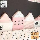 ベッドガード ベビー クッション 赤ちゃん 転落防止 XXLサイズ 5枚セット ハウス型 セーフガード ベビーベット ガード COZY STORY