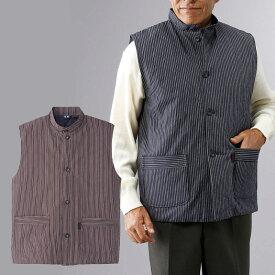 シニアファッション メンズ 80代 70代 60代 90代 秋冬 日本製 紳士 亀田縞 裏キルト ベスト おじいちゃん 服 プレゼント 紳士服 男性 祖父 お年寄り 老人 高齢者 敬老の日 プレゼント ギフト 実用的