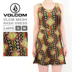 ボルコム レディース 水着 VOLCOM O30115JB VLCM MESH RASH DRESS メッシュ ラッシュ ドレス ワンピース ※インナーパンツはついておりません | かわいい おしゃれ セクシー 夏 ビーチ 砂浜 プール 肌隠し 日焼け 防止 紫外線 対策 UPF50+ UV PROTECTION フェス 海