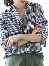 [Rakuten Fashion]ダブルガーゼシャツ coen コーエン シャツ/ブラウス 長袖シャツ ネイビー ホワイト ベージュ
