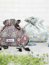 [Rakuten Fashion]Market(マーケット)モダールフラワープリント巾着 coen コーエン バッグ ショルダーバッグ グレー ブルー【RBA_E】