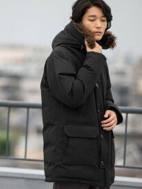 [Rakuten Fashion]AIRCONPADノルディックフーデットコート coen コーエン コート/ジャケット ダウンジャケット ブラック カーキ【送料無料】