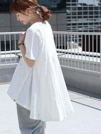 [Rakuten Fashion]【SALE/20%OFF】USAコットンバックフレアチュニック coen コーエン カットソー Tシャツ ホワイト ブラック ネイビー【RBA_E】