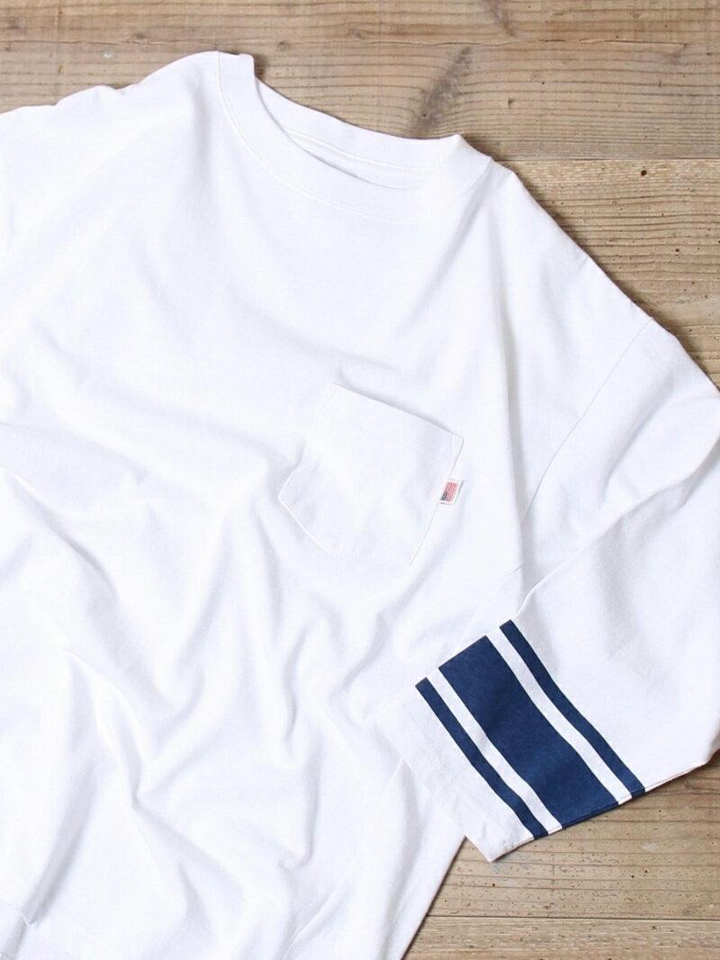 [Rakuten BRAND AVENUE]USAコットン7分袖フットボールシャツ coen コーエン カットソー