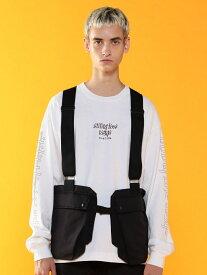 [Rakuten Fashion]グログランウェアラブルバッグベスト(UTILITYLINE) coen コーエン コート/ジャケット ベスト ブラック【送料無料】