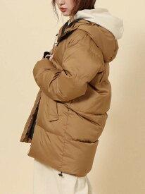 [Rakuten Fashion]【SALE/50%OFF】フーデッドロングダウン(リサイクルダウン) coen コーエン コート/ジャケット ダウンジャケット ベージュ ブラック【RBA_E】【送料無料】