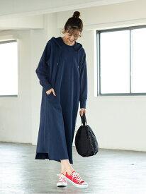 [Rakuten Fashion]【SALE/40%OFF】USAコットンインレイフーディーワンピース coen コーエン ワンピース シャツワンピース ネイビー グリーン【RBA_E】