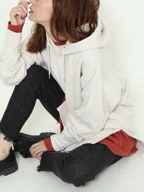 [Rakuten Fashion]【WEB限定】CVCサイドスリットパーカー(フーディースウェット) coen コーエン カットソー Tシャツ ホワイト ブラック【先行予約】*