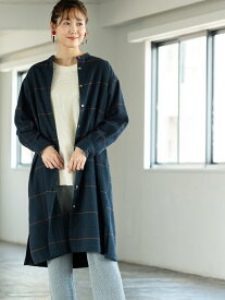[Rakuten Fashion]【ムック本掲載】インディアンコットンネルチェックシャツワンピース coen コーエン ワンピース シャツワンピース グリーン ブラウン【送料無料】