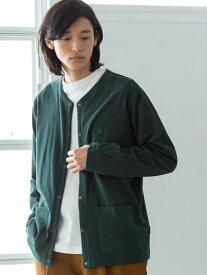 [Rakuten Fashion]オープンエンド天竺クレイジーボタンカーディガン coen コーエン ニット カーディガン グリーン ネイビー