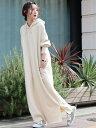 [Rakuten Fashion]【SALE/20%OFF】【WEB限定マキシ丈】CVCサイドスリットフーディーマキシワンピース(パーカーワンピ…