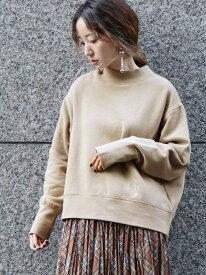 [Rakuten Fashion]もちもち裏起毛ハイネックプルオーバー coen コーエン カットソー スウェット ベージュ グレー【先行予約】*