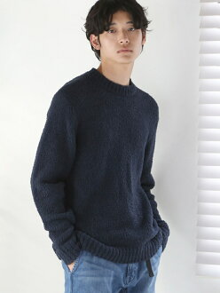 [Rakuten BRAND AVENUE] microlacing braid crew neck knit coen Cohen knit *