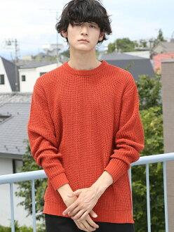 [Rakuten BRAND AVENUE] polylacing braid color knit coen Cohen knit *