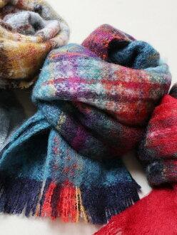 [Rakuten BRAND AVENUE]Guillaume de Mons (ギヨモン) checked pattern scarf (stall) coen Cohen fashion goods *